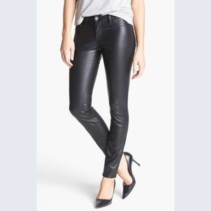 Blank NYC faux leather pants moto mid rise skinny
